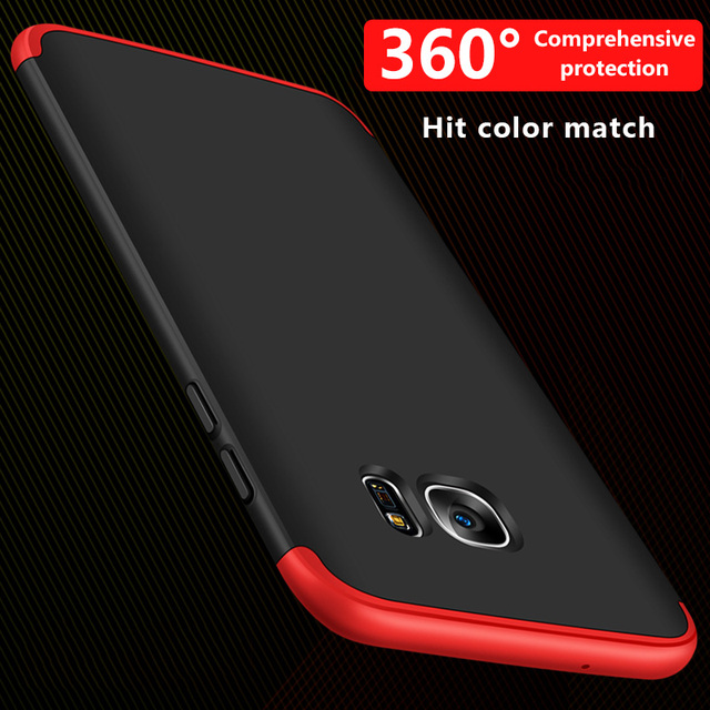 360 Full Cover Phone Case For Samsung Galaxy S7 A3 A5 A7 J7 J5 2017 Case For Samsung S6 Edge A8 Plus Protective Shell Case Cover
