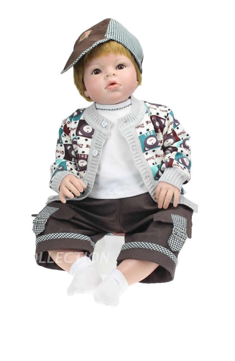 70 см мягкие виниловые возрождается мальчик одежда для малышей куклы 28 реалистичные детские Куклы для маленьких мальчиков Кукла реборн Оде