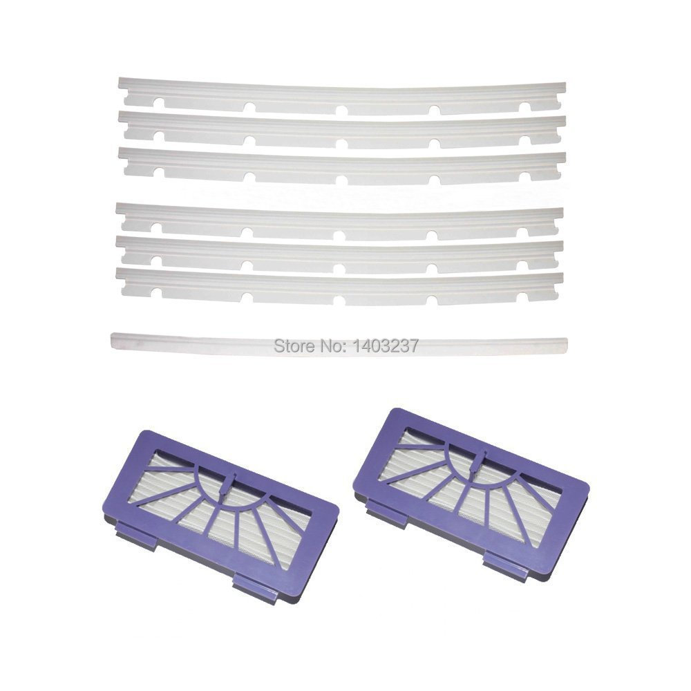 2 HEPA Filters + 6 compatible Blades and 1 Squeegee Replacement For Neato XV-11 XV-12 XV-14 XV-15 XV-21 25x29x1 merv 12 ac furnace filters qty 6