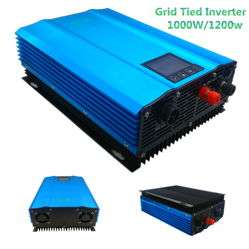 New 1000W grid tie inverter for PV DC Input:26V-45V or 24V battery discharge battery energy recovery lcd display pure sine wave free shipping 600w wind grid tie inverter with lcd data for 12v 24v ac wind turbine 90 260vac no need controller and battery
