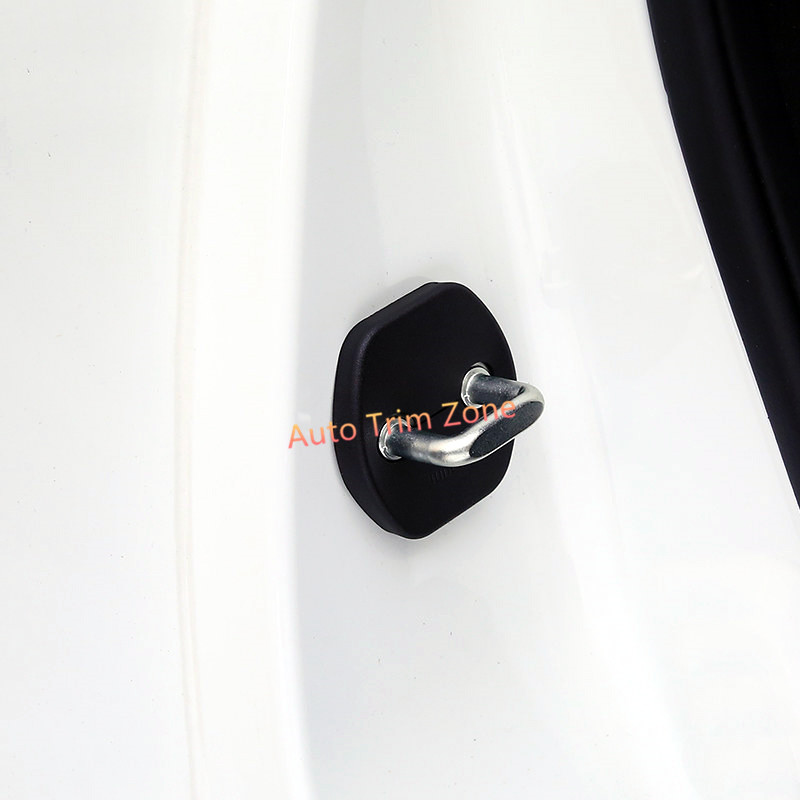 4 PCS Plastic Door Lock Cover Protector Shield Cover Trim For Nissan Leaf 2018
