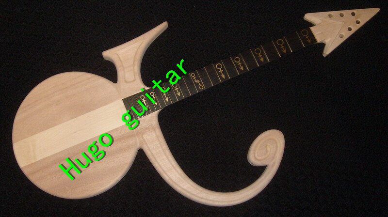 Unfinished Prince Electric Guitar Love Symbol Modelthru Maple Neck