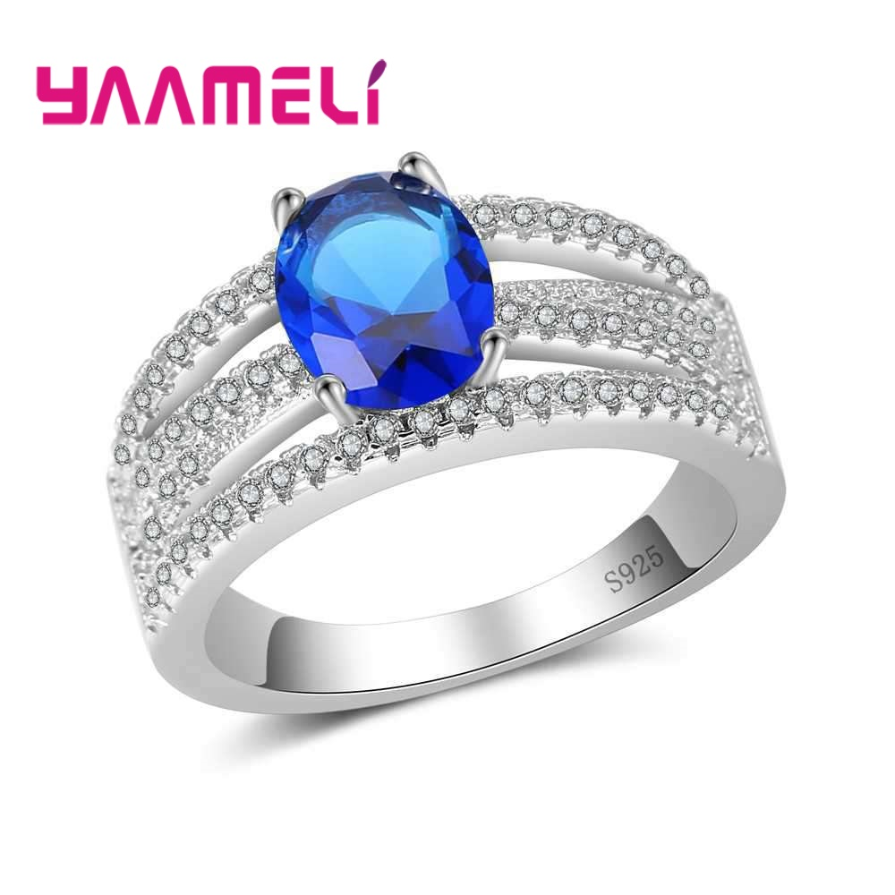 YAAMELI New Arrival Top Quality Women 925 Sterling Silver Accessories Beautiful Finger Rings Size 7-9 Suitable For Ladies/Girl