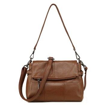 Women Handbag Bolsa Feminina Genuine Leather New Women Tote Bag with Authentic Leather High Quality Shoulder Messenger Bags