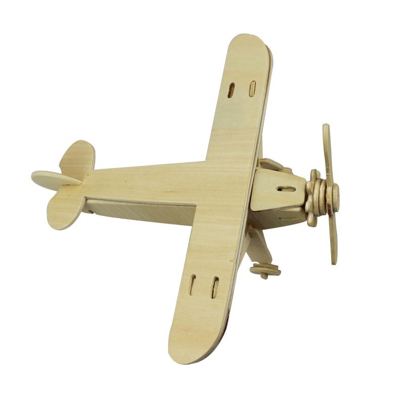 Жаңа 1Pc ұшақтары Serial 3D Wooden Puzzle Vivid Wooden - Ойындар мен басқатырғыштар - фото 4