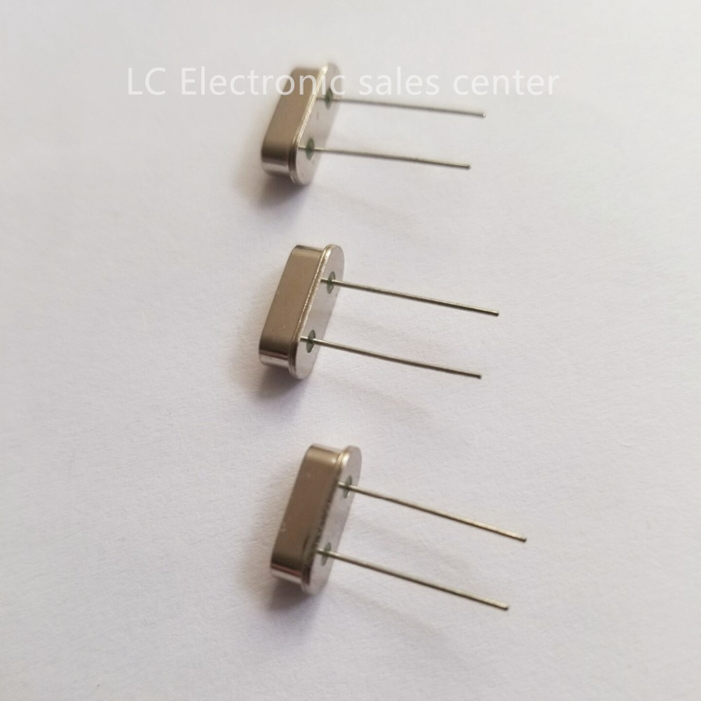 Free Shipping  5pcs Quartz Crystal In-line Two-legged Resonator HC-49S 3.58MHZ 3.58M Passive Clock Crystal