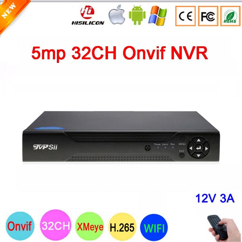 Dahua painel hi3536c 5mp xmeye vigilância gravador de vídeo h.265 + 32ch 32 canais um sata ip onvif wifi cctv nvr
