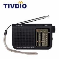 TIVDIO V 117 3 Band FM AM SW Portable Radio Battery Powered Emergency Radio Receiver