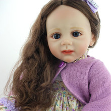 Soft Silicone 24 Inch 60cm Newborn Baby Toys Collectible Reborn Babies Doll Fashion Girl Doll Kids