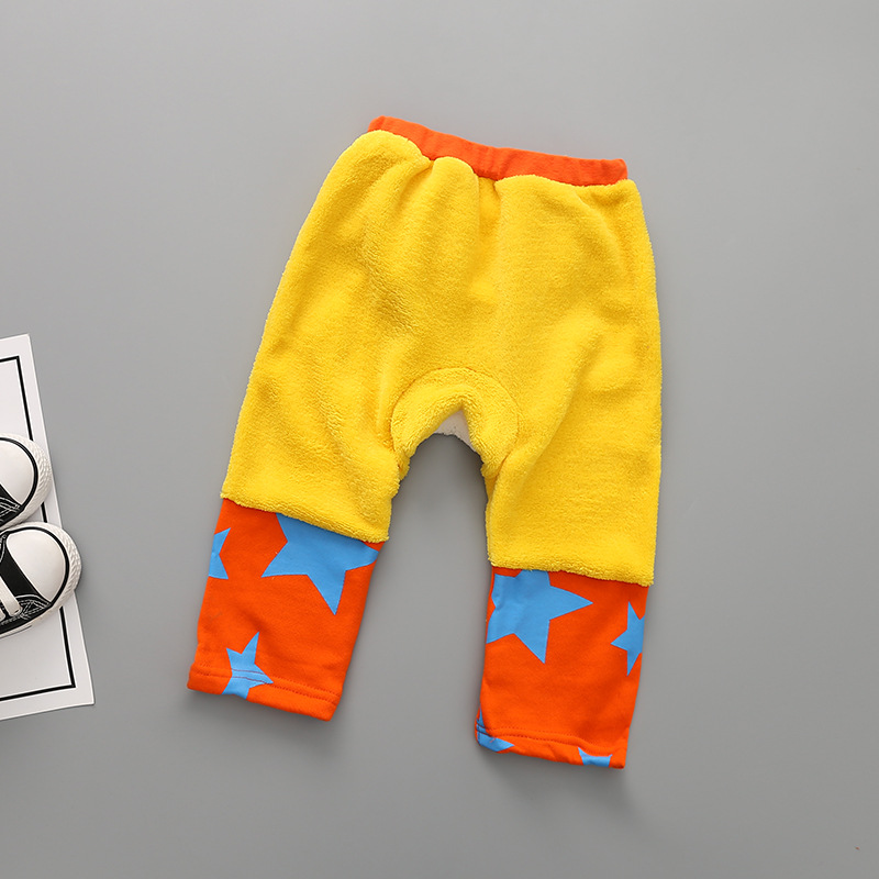 Childrens clothing wholesale qiu dong coral fleece embroidery bear pp pants pp pants sell like hot cakes