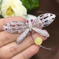 Dragonfly Natural And Real Amber brooch Free shipping Natural real Amber 925 sterling silver brooch