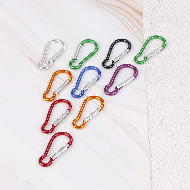 5 cái Nhôm Carabiner D-Ring Móc Chìa Khóa Clip Cắm Trại Keyring Snap Hook Du Lịch Ngoài Trời Kit