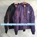 2017 top new rare new hiphop design vetements darkness men unisex baggy oversized black purple Jackets Brand zipper coat M-XXL
