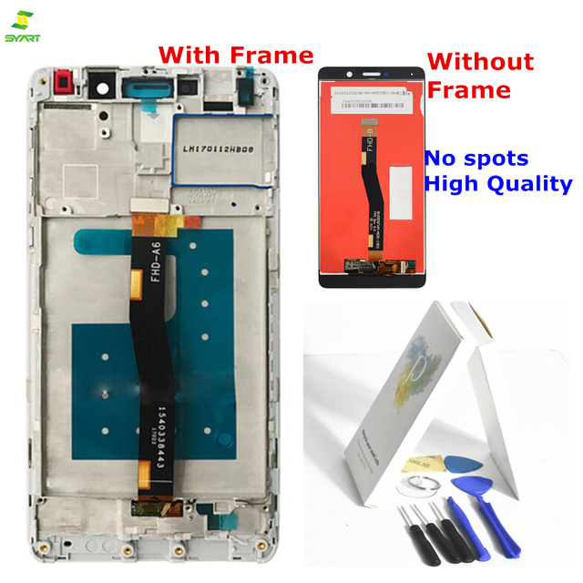 US $13 22 50% OFF|Full Lcd Screen For Huawei Honor 6X LCD Screen  Replacement LCD Display+Touch Screen Digitizer 5 5inch New Lcd For huawei p  smart-in