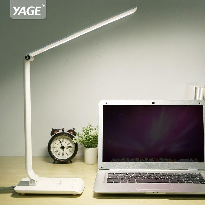 YAGE Desk Lamp Office Led Desk Lamp Flexible Led <font><b>Table</b></font> Lamp Reading Led Light 3-Level Cold/Warm Light 90V-240V Natural Light