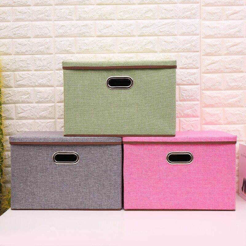 new Fabric Folding clothes storage box for Socks Underwear Ties Bra Cosmetics kid toys Storage Box Clothing bin 8colors