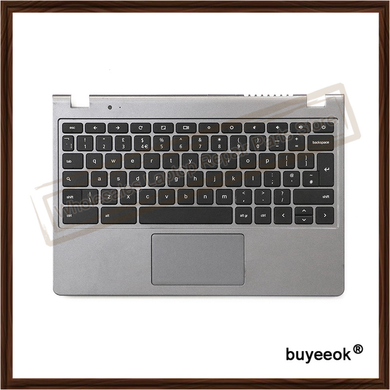 Original Laptop Top Case Touch Pad With UK/US Keyboard For ACER Chromebook C720 C720P C730 C740 laptop keyboard for acer silver without frame bulgaria bu v 121646ck2 bg aezqs100110