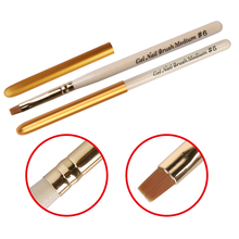 Ручка-кисточка для ногтей, Гелевый лак для ногтей, УФ-светодиодный, с эффектом замачивания, 3D, акриловая кисть для ногтей, УФ гель для ногтей, кисти, ручка, 6, для самостоятельного рисования