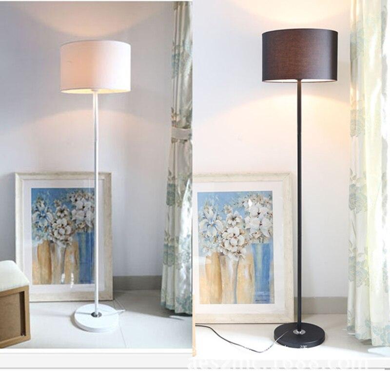 new store promotion home family hotel decoration white and black shade led floor light modern floor lamp e27 socket ac 90 260v in floor lamps from lights - Black Hotel Decoration