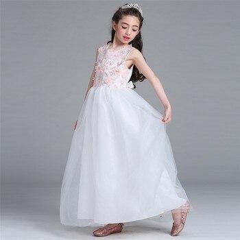 9853520abd La nueva muchacha de flor vestido largo ropa de verano chica velo Vestidos  niños desgaste del