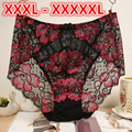 Plus Size Sexy Lace Women Floral Jacquard High Waist Panties Lingerie Girls Cute Briefs Bragas Pants Underwear Knickers HC1891