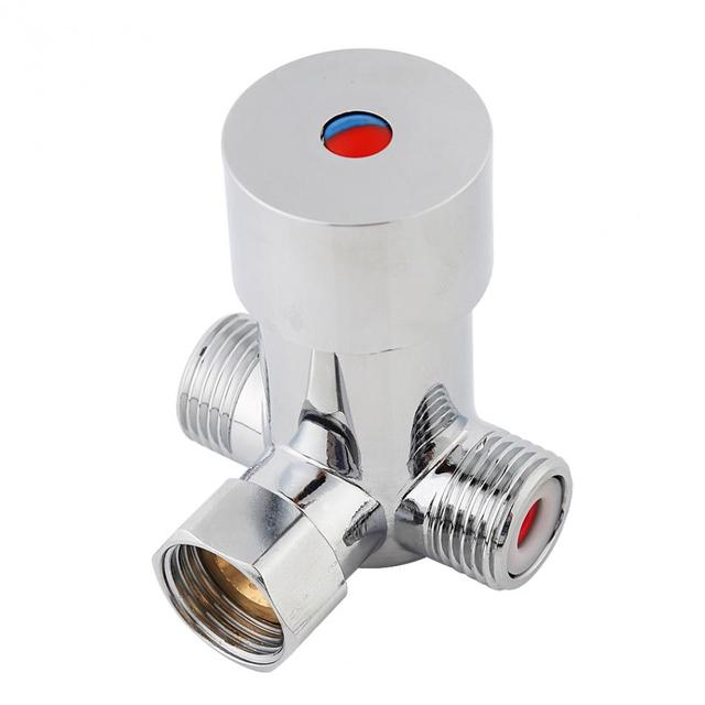 G1 2 Hot Cold Water Mixing Valve Thermostatic Mixer Temperature Control For Automatic Faucet