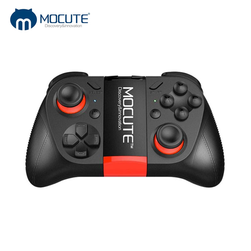 MOCUTE 050/054/053 <font><b>Bluetooth</b></font> VR Gamepad Android Joystick Controller Selfie <font><b>Remote</b></font> <font><b>Control</b></font> <font><b>Shutter</b></font> for PC Smart Phone+ Holder image