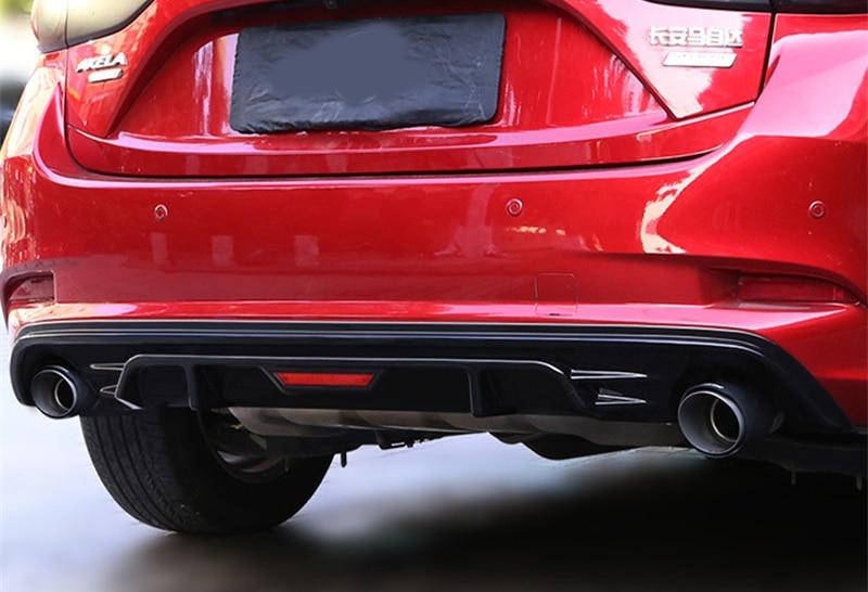 For Mazda 3 Axela sedan 2017 2018 Rear bumper Body Kit PU