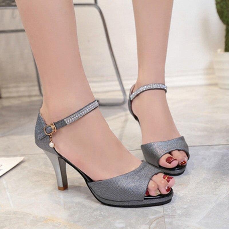 2016 été nouvelle plate-forme transparente wedges Sandales femme mode talons hauts femmes pantoufles taille 35-39 v7Fws