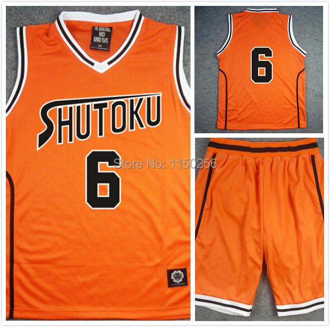 Orange Kuroko no Basket Basketball Midorima Shintaro Cosplay Costume Jersey