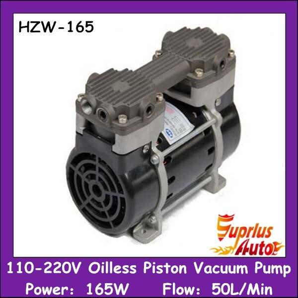HZW-165 110/220 В silent oilless вакуумный насос поршневой 165 Вт с 50L/мин вакуумный потока