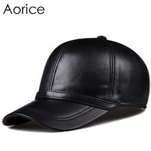 Aorice мужская из натуральной кожи бейсболка Hat 2017 новые брендовые черные вождения Trucker охоты Шапки шляпы HL091
