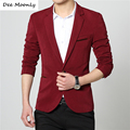DEE MOONLY 2017 New Mens casual slim fit Blazer men wedding dress blazer jacket mens red suit jacket manteau homme