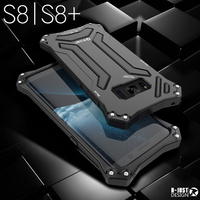 R-JUST Vida À Prova de água Caixa De Alumínio Para Samsung Galaxy Capa S8 s8 S8 Além de Choque Dropproof De Metal De Silicone + Telefone Móvel casos