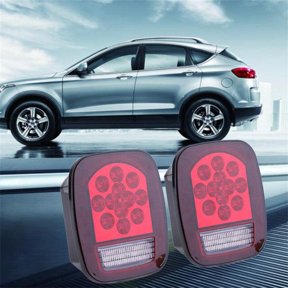 Универсальный 2шт 12V водить автомобиль грузовик стоп включите хвост предупреждение Водонепроницаемый свет автомобилей тормозные стоп-сигналы заднего хода сигнальная лампа авто