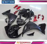 Matte Black Silver R1 Logo ABS Fairing Bodywork For Yamaha YZF R1 2009 2010 2011 Motorcycle Fairings With Gloss Black Nose