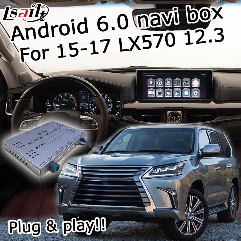 Android 6 0 GPS navigation box for Lexus LX570 2015 2017 etc video interface with knob