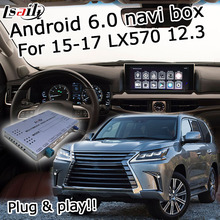Android 6.zero GPS navigation discipline for Lexus LX570 2015-2017 and so forth video interface with knob mouse administration LVDS solid show display