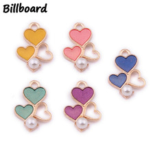 Enamel Charms for Jewelry Making Floating Charms for Living Lockets Pendants Jewelry Making Zinc Alloy Metal Hearts 10pcs/bag charms for jewelry making floating charms enamel charms zinc alloy sun moon