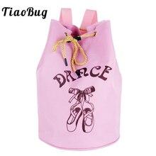 TiaoBug Cute Kids Drawstring Ballet Dance Bag Student School Backpack Toe