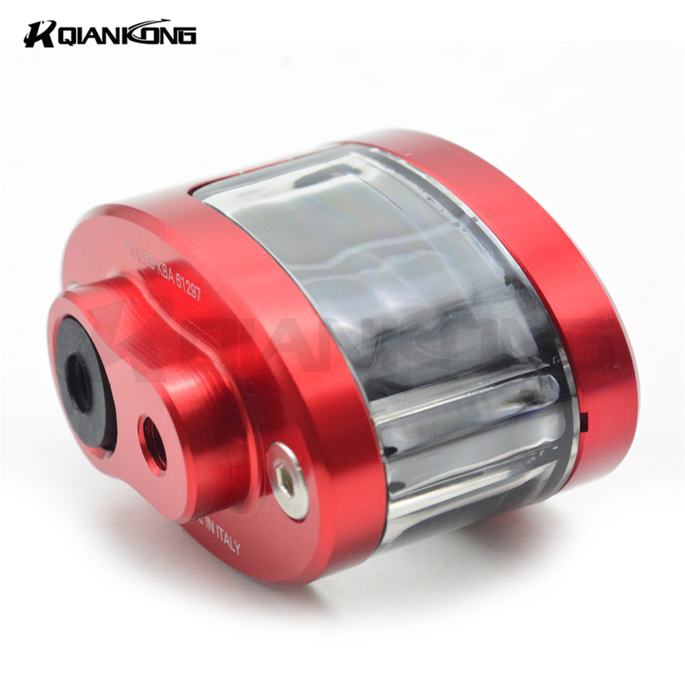 Universal CNC Motorcycle Brake Fluid Reservoir Oil Cup For APRILIA RS 125 RS 125 RS125 SHIVER/GT 07-13 DORSODURO 750 08-13 RSV M