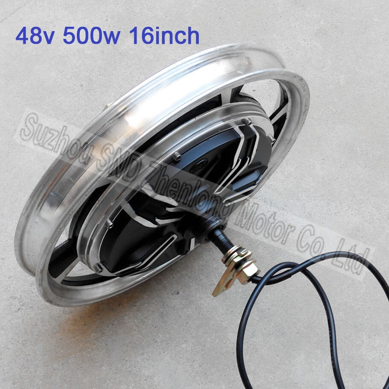 Electric scooter 16inch 48V 500W brushless hub motor/ electric bike DIY replace 60V1000W motor G-M003 - Suzhou SND Zhenlong Motor Co. Ltd store