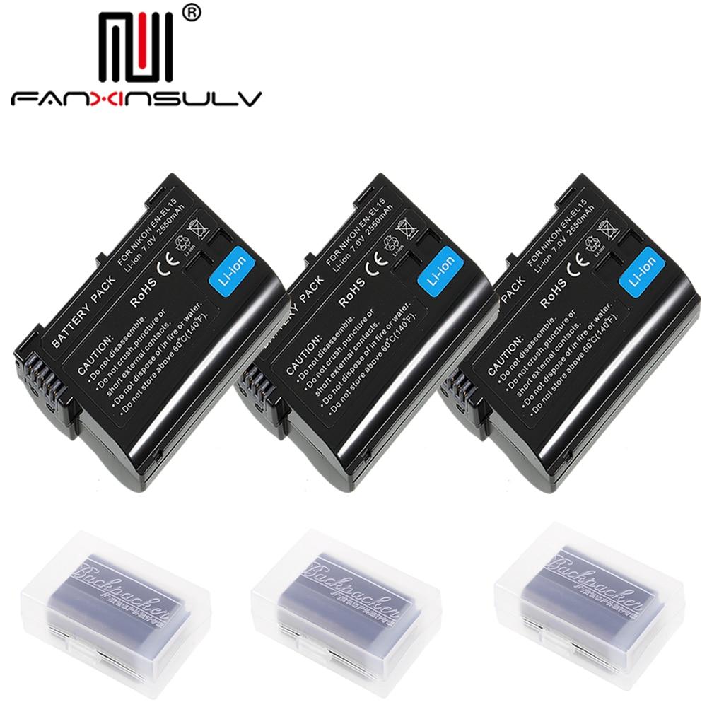 3 X En-el15 En El15 Digital Batterie Für Nikon D7200 Slr Kamera Batterie D7000 D7100 D7500 D610 D750 D810 D850 Z6 Z7 D500 Tracking Unterhaltungselektronik