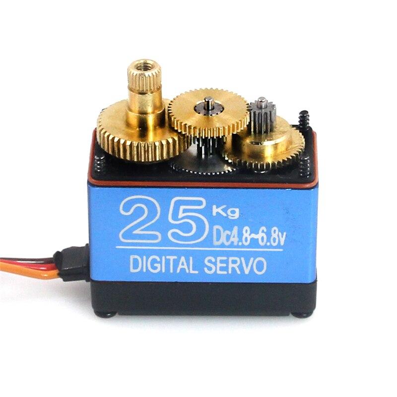 Livraison gratuite DS3325MG mise à jour RC servo 25 kg plein metal gear numérique 180 degrés servo Étanche version pour baja voitures RC jouets