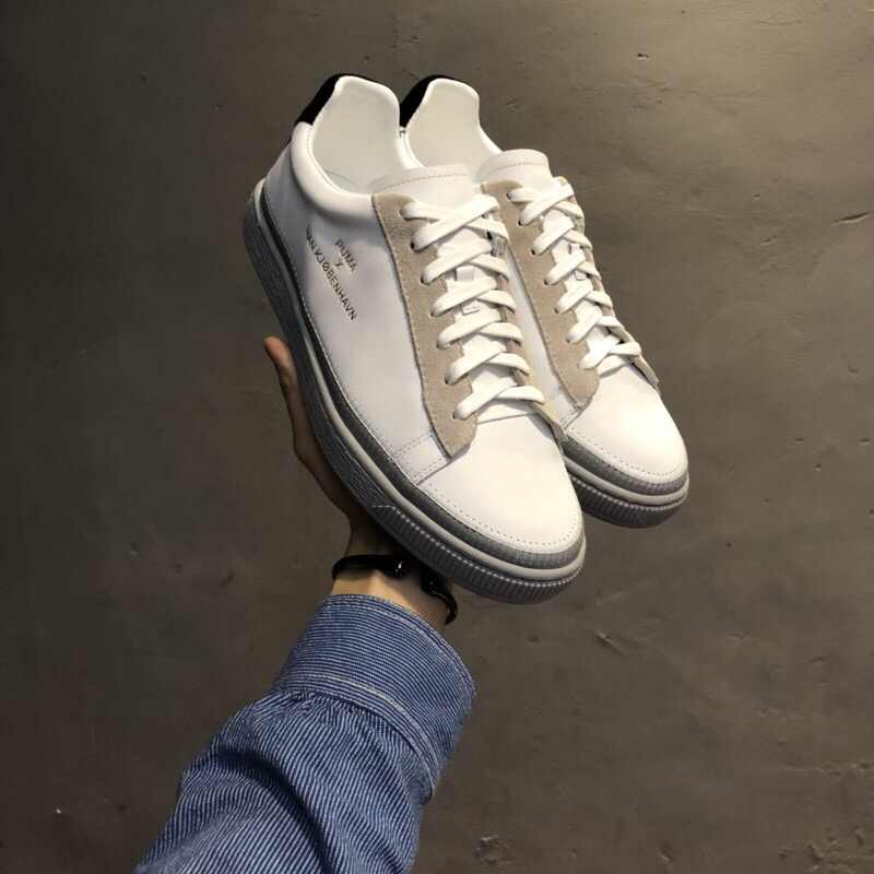 detailed look 1d3e0 e6ea2 PUMA Unisex x Han Kjobenhavn Basket Stitched Sneaker badminton shoes  size35-44