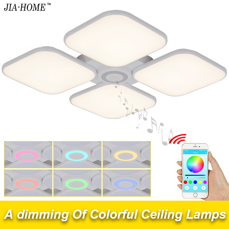 Square Celing Lights Cold White Warm White 72w for living room with Bluetooth Control Lampshade dome acrylic led lamps fixtures