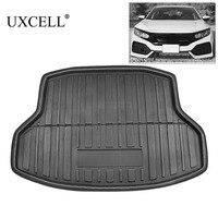 UXCELL PE+EVA foam plastic Anti dirty Black Rear Trunk Boot Liner Cargo Mat Floor Carpet Tray Cover for Honda Civic 2017 2018