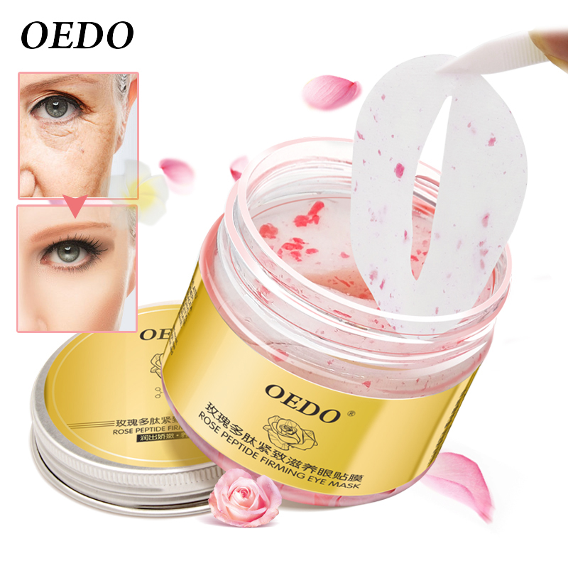 Rose Peptide Firming Eye Mask Remove Dark Circle Moist And Bright Clear Eyes Anti-Puffiness Whitening Eye Care Anti-Aging Cream xishimei pearl eye brightening and regeneration eye cream anti aging