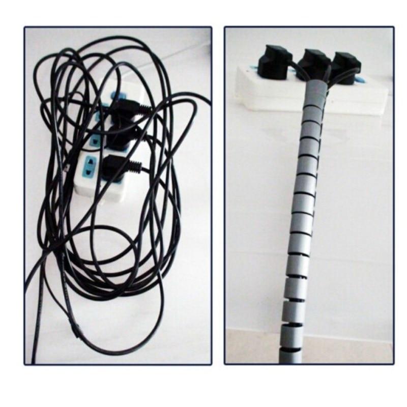 Image 5 - Кабель провода ремешок для проводов 1 м 3 фута спиральная трубка намотки кабеля протектор шнура гибкое управление провода труба органайзер 16 мм Шнур для телефона-in Кабелеукладчик from Бытовая электроника