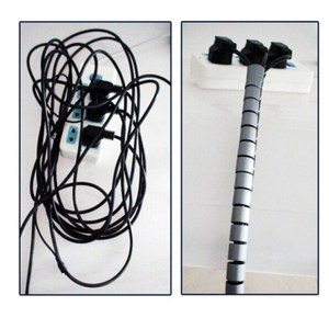 Image 5 - สายสายตัด Organizer 1 M 3FT เกลียวสาย Winder สายไฟ Protector ยืดหยุ่นการจัดการสายไฟท่อ 16 มม. โทรศัพท์สาย